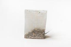 One tea bag isolated on white Stock Photos
