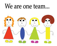 We are one team Stock Photo