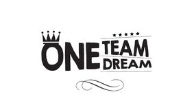 One Team One Dream Icon Illustration Stock Vector Illustration Of
