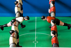 One Team will win. In Table Soccer Royalty Free Stock Photography