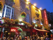The temple bar dublin ireland. The one and only temple bar in the temple bar district in the beating heart of the Dublin city royalty free stock images