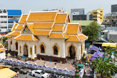 One of the temple buildings of Wat Traimit, an important Buddhis Royalty Free Stock Photos