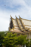 One of the temple in Thailand. Renovate building some parts of the temple royalty free stock images