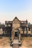 One of the temples inside the Angkor Wat. Angkor Wat is one of the famous tourist attraction in the world, located at. The picture showing one of the temple Stock Photo