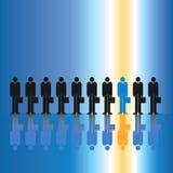 One in Ten Businessmen Stock Photos