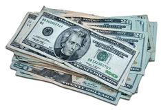 One Thousand Dollars (with clipping path) Stock Photography
