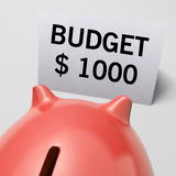 One Thousand dollars, usd Budget Shows Limitations Royalty Free Stock Photo