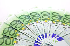 One thousand euros. Isolated one thousand euroson the table royalty free stock image
