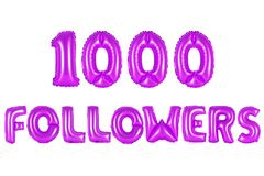 One thousand followers, purple color Stock Photography