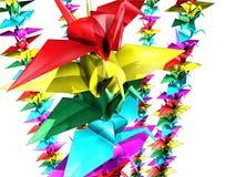 One thousand paper cranes Stock Photos