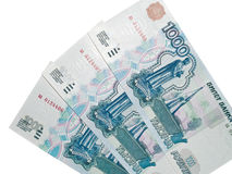 One thousand rouble banknotes Royalty Free Stock Photography