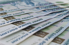 One thousand rouble banknotes Stock Photos