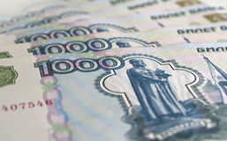 One thousand rouble banknotes Royalty Free Stock Photos