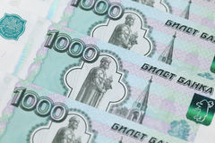 One Thousand Ruble Notes Stock Photography