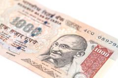 One thousand rupee note (Indian Currency) Royalty Free Stock Photos