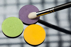 One Three Eye Shadow Brush Composition Royalty Free Stock Photo