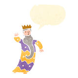 One of the three kings retro cartoon Royalty Free Stock Images