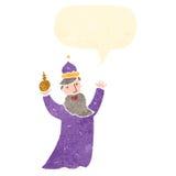 one of the three kings retro cartoon Royalty Free Stock Photo