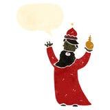 one of the three kings retro cartoon Stock Photo