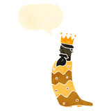 One of the three kings retro cartoon Royalty Free Stock Photos