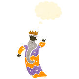 One of the three kings retro cartoon Royalty Free Stock Photography