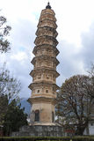 One of the Three Pagodas of Chongsheng Temple near Dali Old Town, Yunnan province, China. Royalty Free Stock Photography