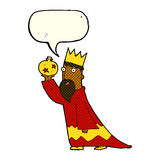 One of the three wise men with speech bubble Royalty Free Stock Photo