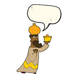 One of the three wise men with speech bubble Royalty Free Stock Image