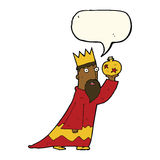 One of the three wise men with speech bubble Stock Photography