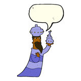 One of the three wise men with speech bubble Royalty Free Stock Images