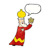 One of the three wise men with speech bubble Royalty Free Stock Photography