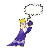 One of the three wise men with speech bubble Stock Photo