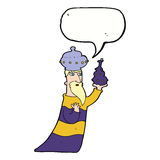One of the three wise men with speech bubble Stock Images