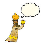 One of the three wise men with thought bubble Royalty Free Stock Photo