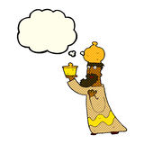 One of the three wise men with thought bubble Stock Photography
