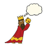 one of the three wise men with thought bubble Royalty Free Stock Photos
