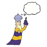 One of the three wise men with thought bubble Royalty Free Stock Images