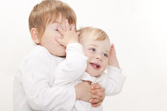 One and three year old brothers Royalty Free Stock Photo