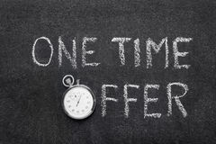 One time offer watch royalty free stock photo