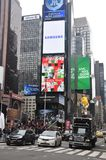 One and only Times Square in New York City. Busy and popular place in NY during peak ours, Times Square, New York City, USA stock photo