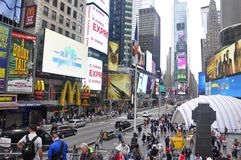 One and only Times Square in New York City. Busy and popular place in NY during peak ours, Times Square, New York City, USA royalty free stock photography