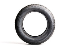 One tire isolated on white Royalty Free Stock Photos