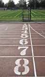 One to eight running lanes Stock Photography