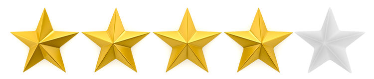 One to five star review Stock Photography