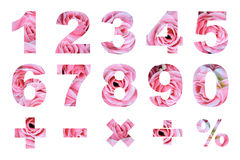 One to zero numbers and basic mathematical symbols Royalty Free Stock Photo