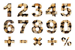 One to zero numbers and basic mathematical symbols Royalty Free Stock Photography