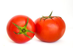 One tomato isolated in white Stock Images