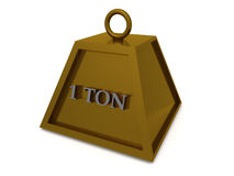 One Ton Weight. An illustration of a one ton weight Royalty Free Stock Images