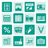 One tone bank, business, finance and office icons. Vector icon set Royalty Free Stock Image