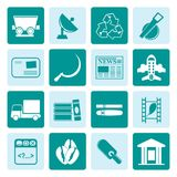 One tone Business and industry icons Stock Photo